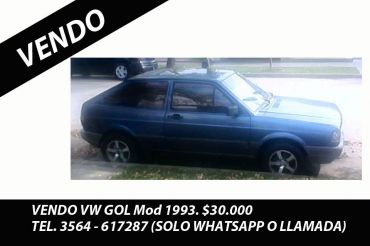 VENDO VW GOL 93 NAFTA BASE