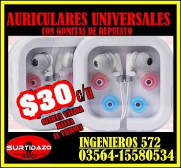 AURICULARES $30