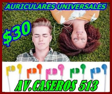 AURICULARES UNIVERSALES $30