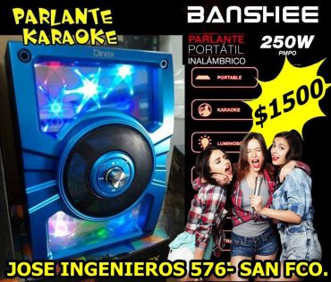 PARLANTE KARAOKE LUMINOSO BLUETOOTH $1500