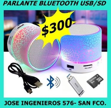 MINI PARLANTE LUMINOSO BLUETOOTH $300 OFERTA!!!