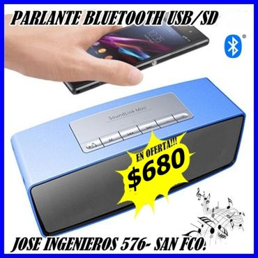 PARLANTE PORTATIL BLUETOOTH $680
