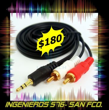CABLE DE AUDIO 2 RCA MINI PLUG $180